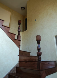 Faux finish in stairwell